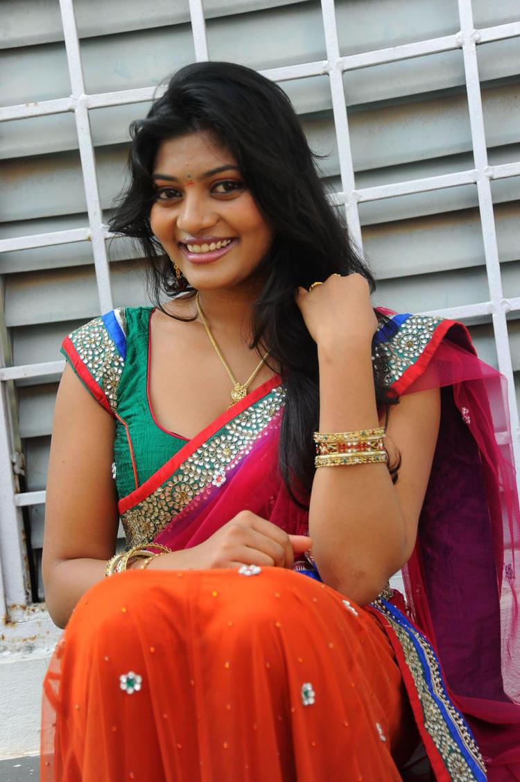 Soumya Cute Smiling Still At Chowrasta Movie Launch