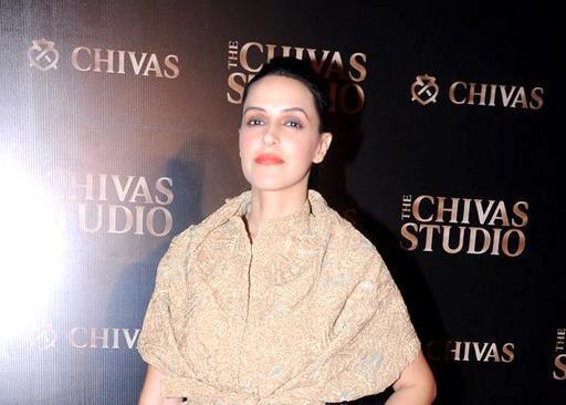 Neha Dhupia Gorgeous Look Posed At Chivas Studio 2012 On Day 2