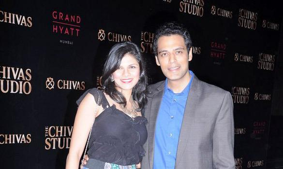 Sameer With Wife Radhika At Chivas Studio 2012 On Day 2
