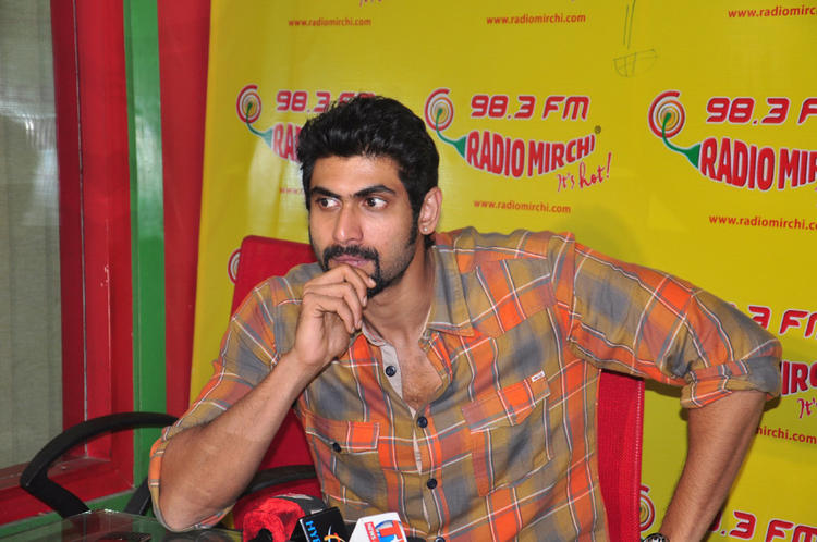 Rana Daggubati At Radio Mirchi For KVJ Promotion