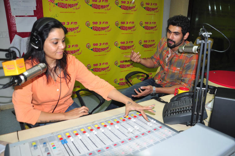 Rana Daggubati Snapped At Radio Mirchi For Promoting KVJ Movie