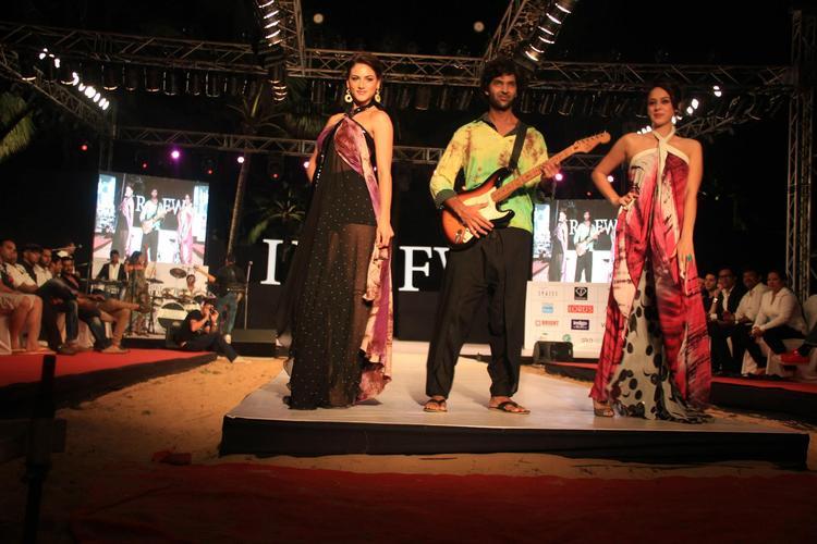 Purab,Nicole And Hazel On Ramp For Gogee Vasant At India Resort Fashion Week 2012