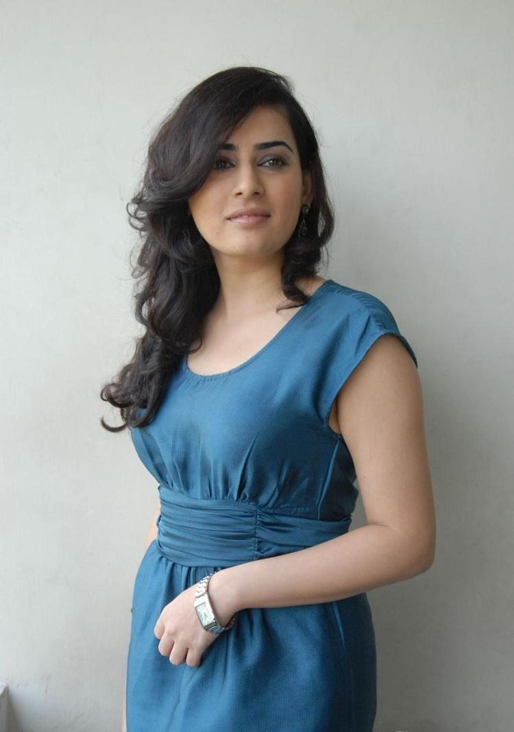 Archana Lokkked Awesome In Blue Dress