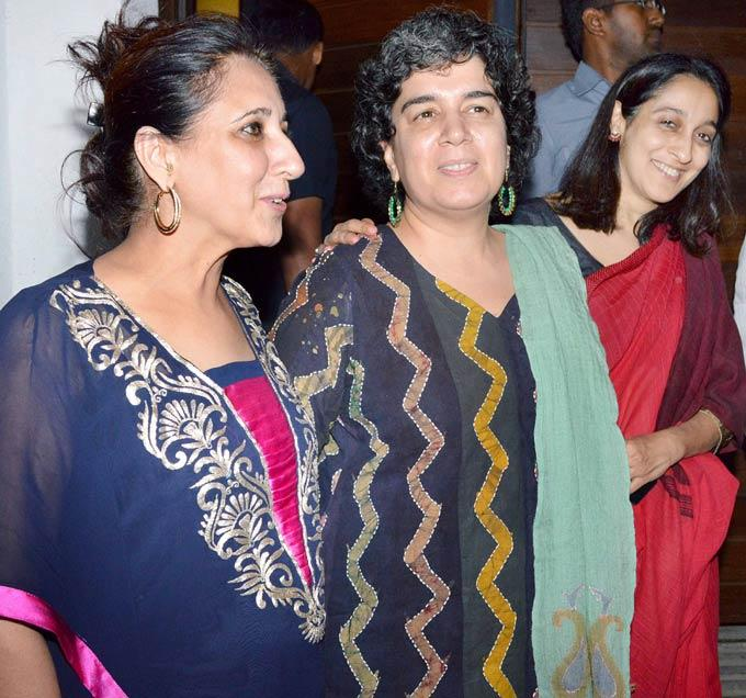 Aamir's Sister Nikhat With Ex-Wife Reena And Nuzhat At Aamir Khan Son Azad First Birthday