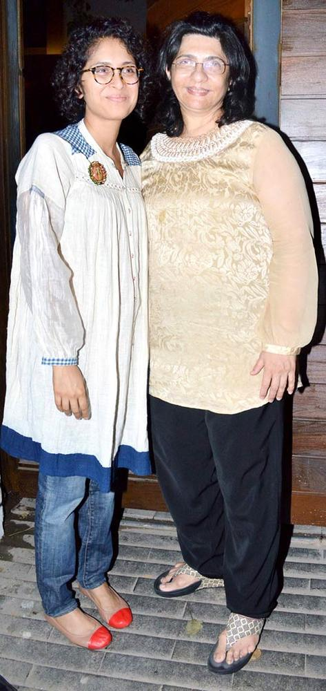Kiran Rao Posed With A Guest At Her Son Azad First Birthday