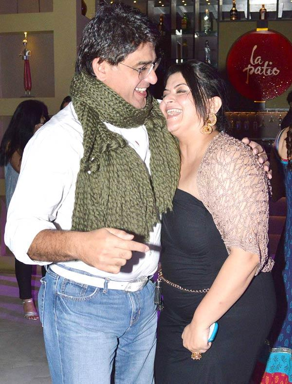 Pragati Mehra With Ayub Khan Clicked At Her Birthday Bash