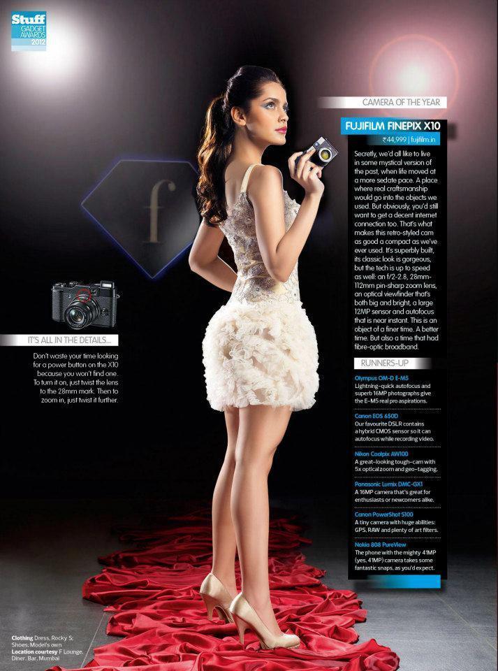 Shazahn Hot Photo In A Mini White Dress For Stuff India December 2012