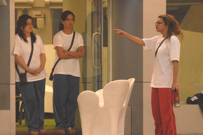 Delnaaz,Sana And Aashka Arguing Photo On Day 58 In Bigg Boss 6