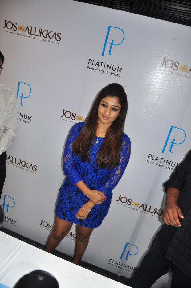 Nayanthara Stylish Posed At Jos Alukkas New Collection Launch