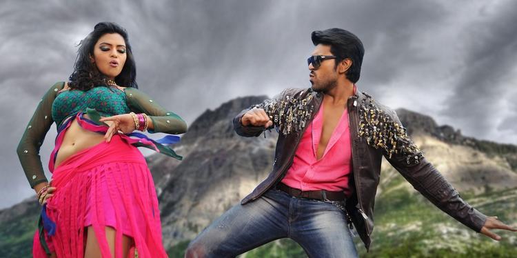 Ram Charan And Amala Dancing Still From Nayak Movie