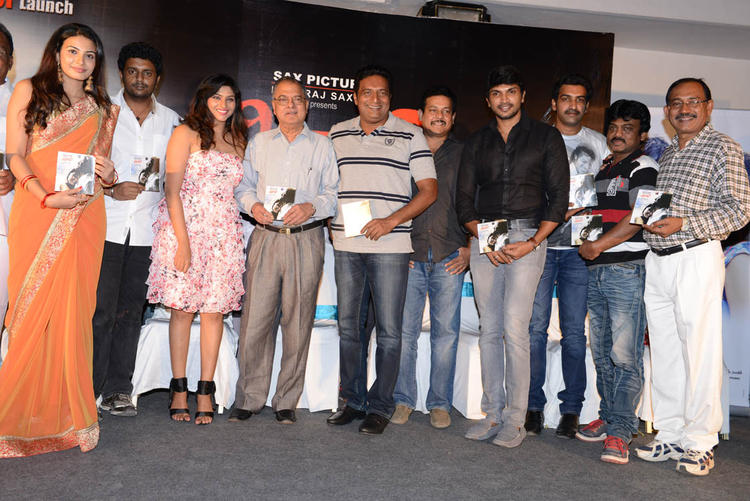 Prakash,Taraka,Laxmi And Kavya Show The Audio CD At Shivani Audio Release Function