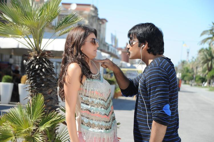 Ravi And Kajal Nice Look Still From Sarocharu Movie