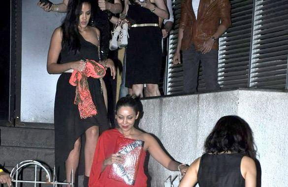 Gauri Khan In Red Dress At Yuvraj Singh Birthday Bash