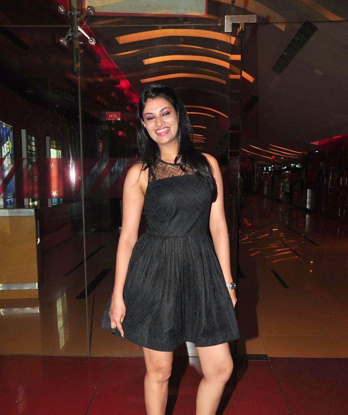 Sayali Bhagat Strikes A Pose At The First Look Launch Of Rajdhani Express