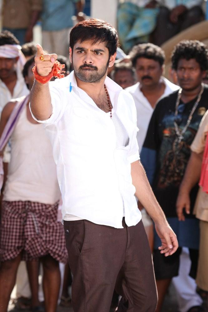 Ram Pothineni Angry Look Still From Ongole Githa Movie