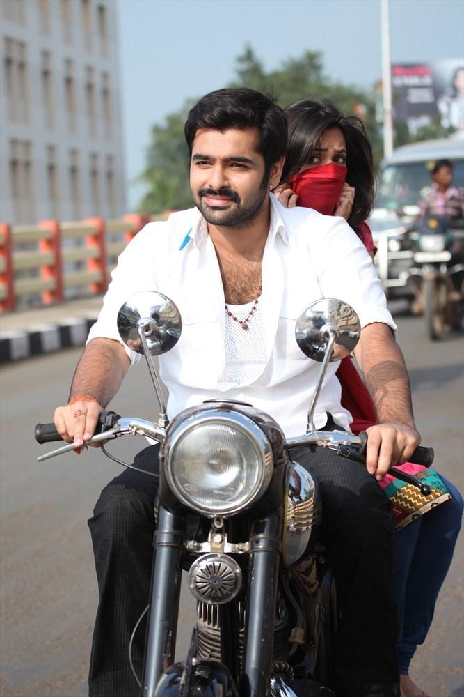 Ram Pothineni With Bike Still From Ongole Githa Movie