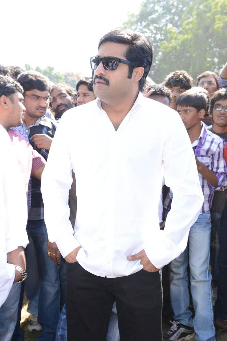 Jr NTR Photo Clicked At Aadi New Movie Launch Event