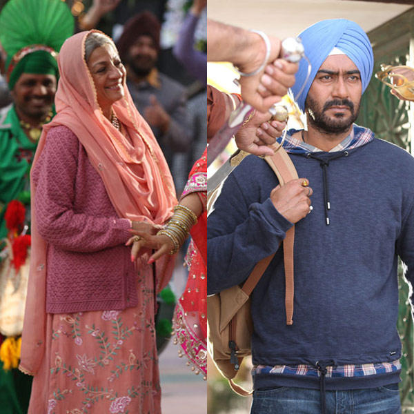 Ajay Devgan And Tanuja Mukherjee In Son Of Sardaar Movie