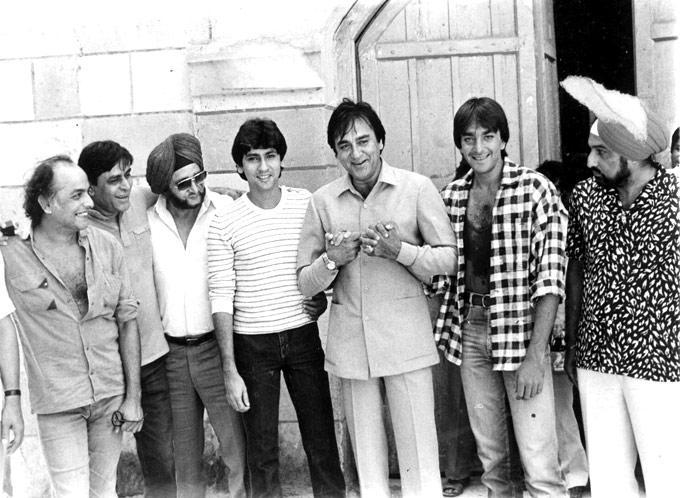 Sanjay Dutt,Kumar Gaurav And Sunil Dutt Rare Still