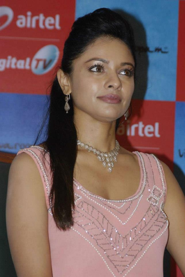 Pooja Looked Gergeous In A Pink Dress At Vishwaroopam Airtel DTH Launch Event