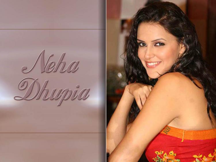 Neha Dhupia Curly Hair Sweet Smile Wallpaper