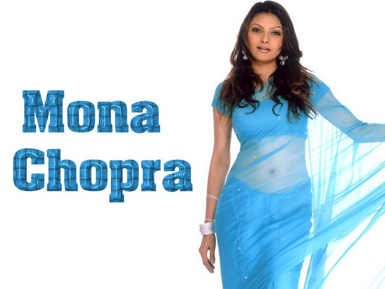 Hot babe Mona Chopra In Saree