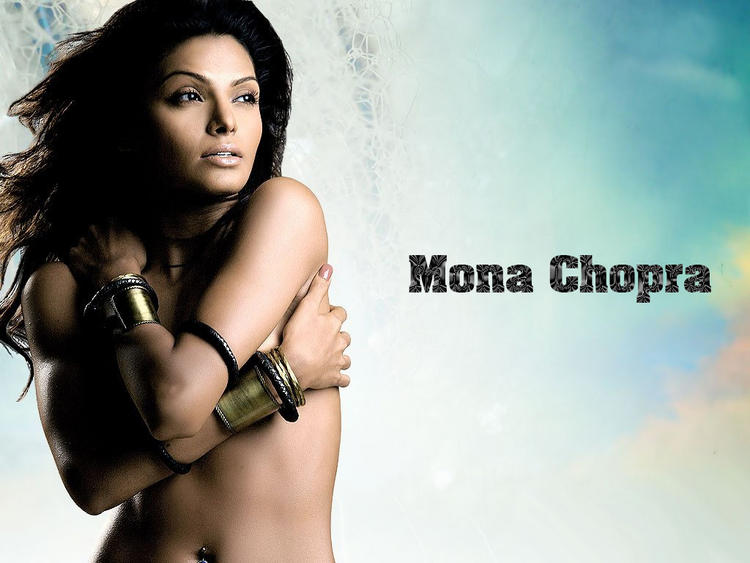 Mona Chopra Topless Dress Wallpaper