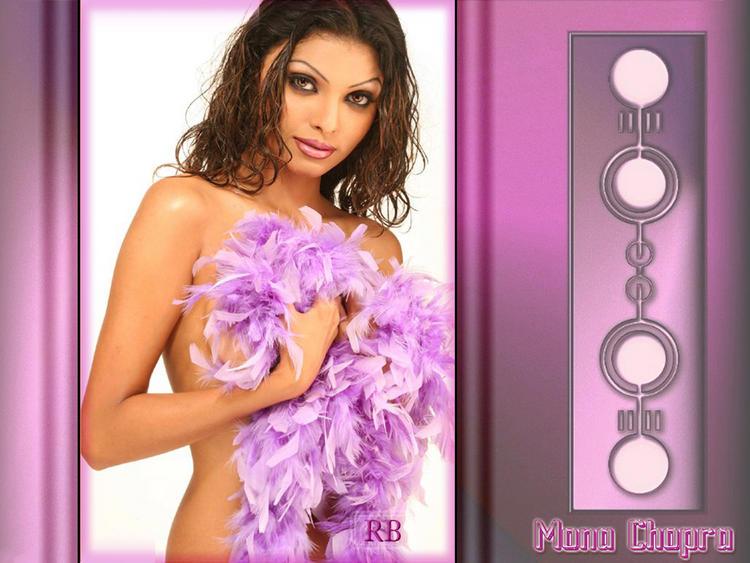 Mona Chopra Without Dress Wallpaper