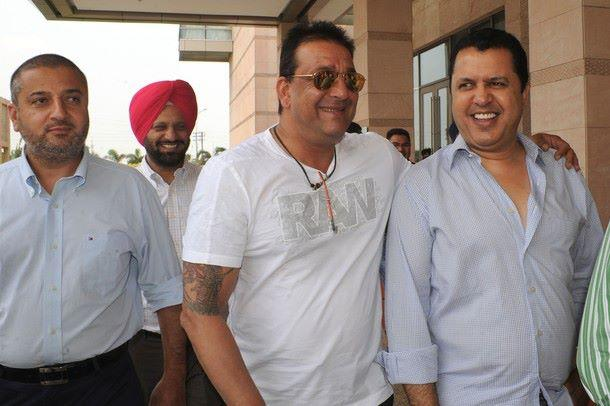 Sanjay Dutt at a Press Conference at Radisson Hotel in Amritsar