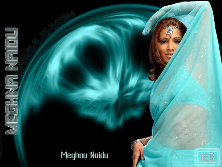 Meghna Naidu Wallpaper In Transparent Saree