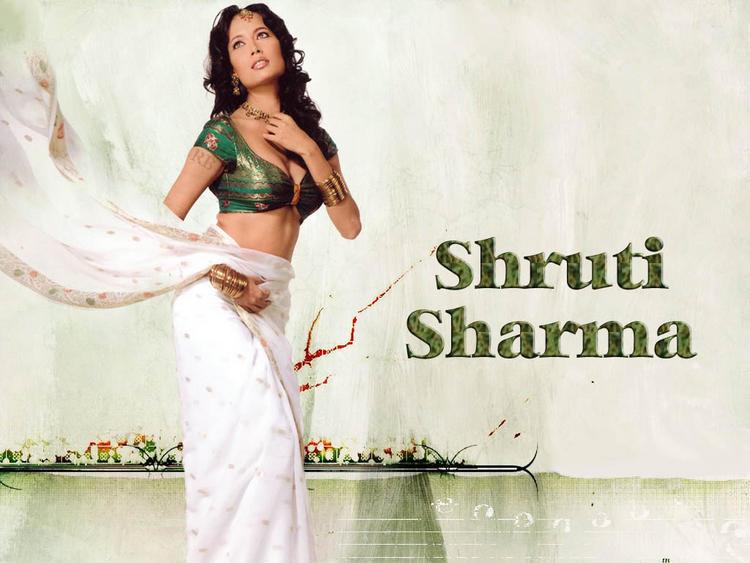Shruti Sharma Wet Outfit In Saree