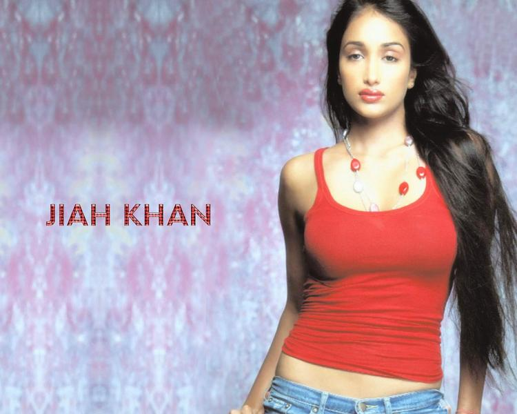 Jiah Khan Awesome Beauty Face Still With Red Tops