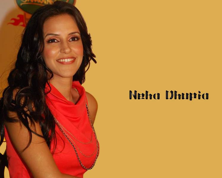 Neha Dhupia Cute Smile Look Wallpaper