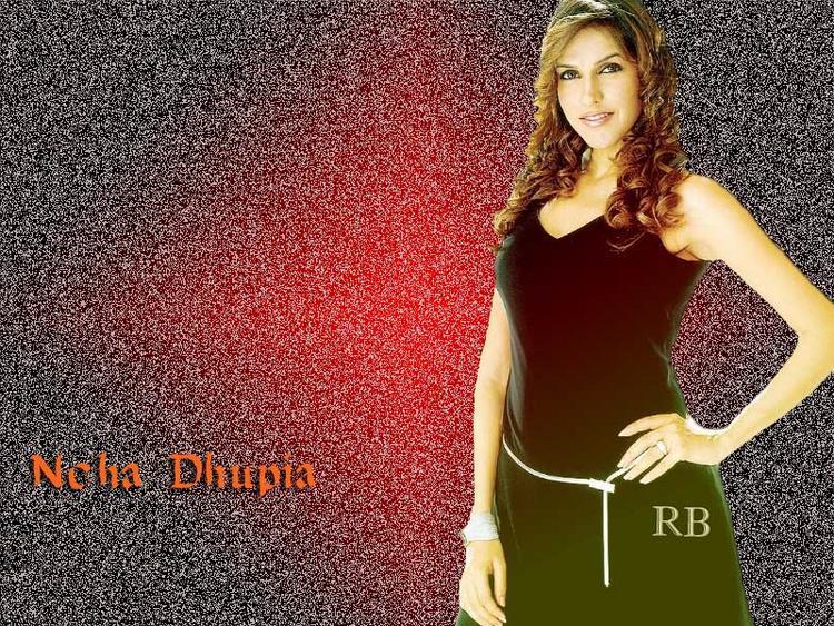 Neha Dhupia Sizzling Face Look Wallpaper