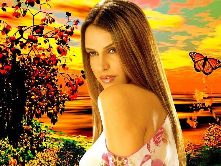 Neha Dhupia Stunning Face Look Wallpaper