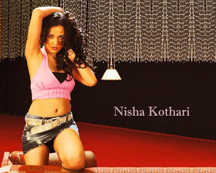 Nisha Kothari Latest Hot Wallpaper In Mini Skirt