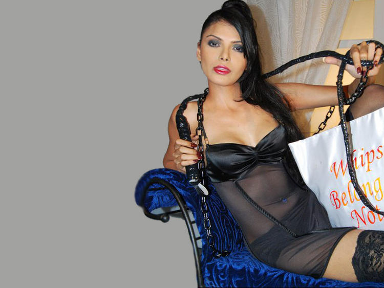 Mona Chopra In Transparent Dress Sexy Still