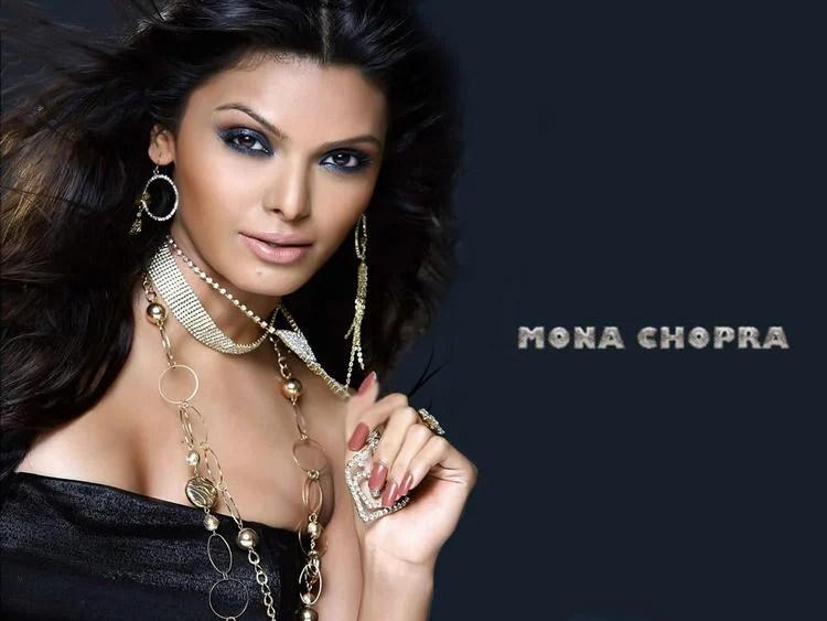 Mona Chopra Hot Sexy Eyes Look Wallpaper