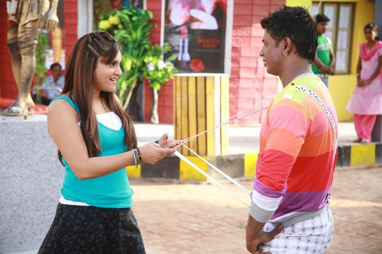 Ramya and Vijay in Johny Mera Naam
