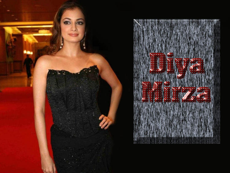 Diya Mirza Strapless Dress Gorgeous Wallpaper