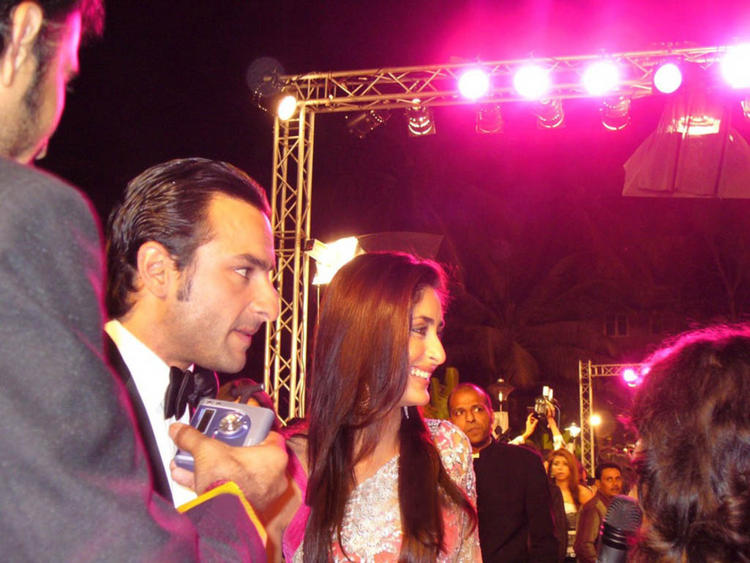Kareena Kapoor and Saif Ali Khan at Agent Vinod