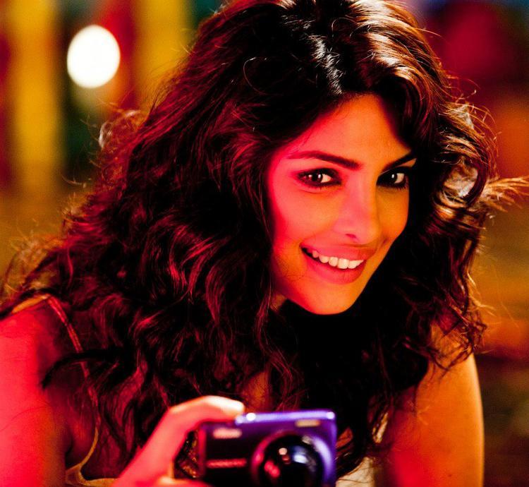 Priyanka Chopra Cute Look On The Sets Of Nikon TVC Shoot