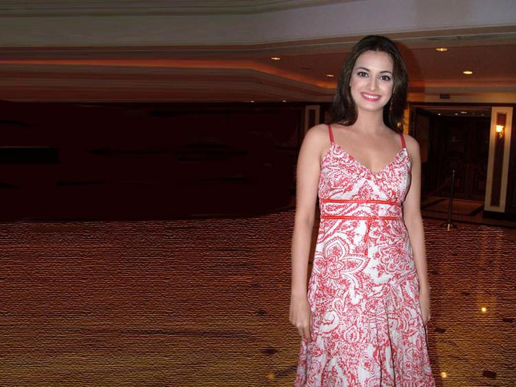Diya Mirza Beautiful Dress Awesome Still