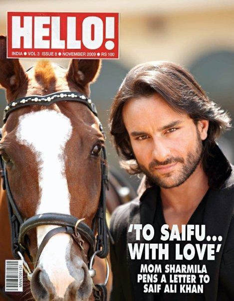 Saif Ali Khan Hello Magazine Still