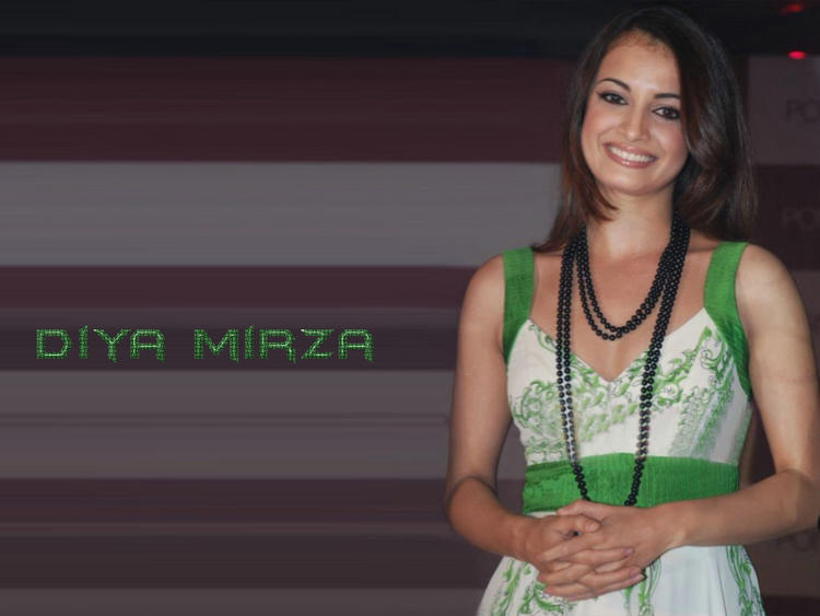 Diya Mirza Sweet Smiling Face Look Wallpaper