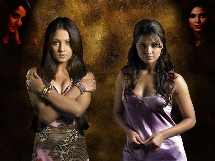 Lara Dutta and Celina Hot Look Still