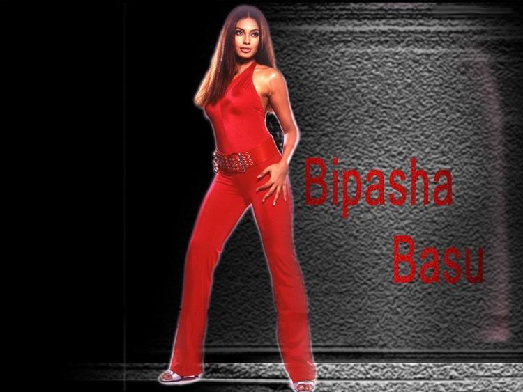Bipasha Basu Red Dress Hot Wallpaper