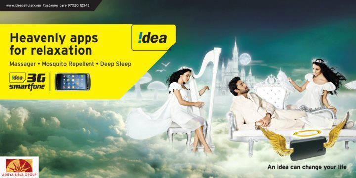 Abhishek Bachchan New Print Ads For Idea 3G Smart Phone
