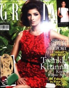 Twinkle Khanna On The Cover Of Grazia Magazine