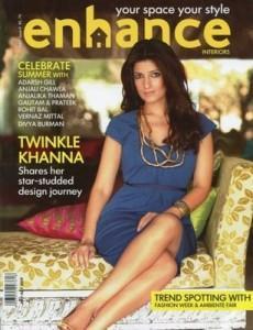 Twinkle Khanna On Enhance Magazine